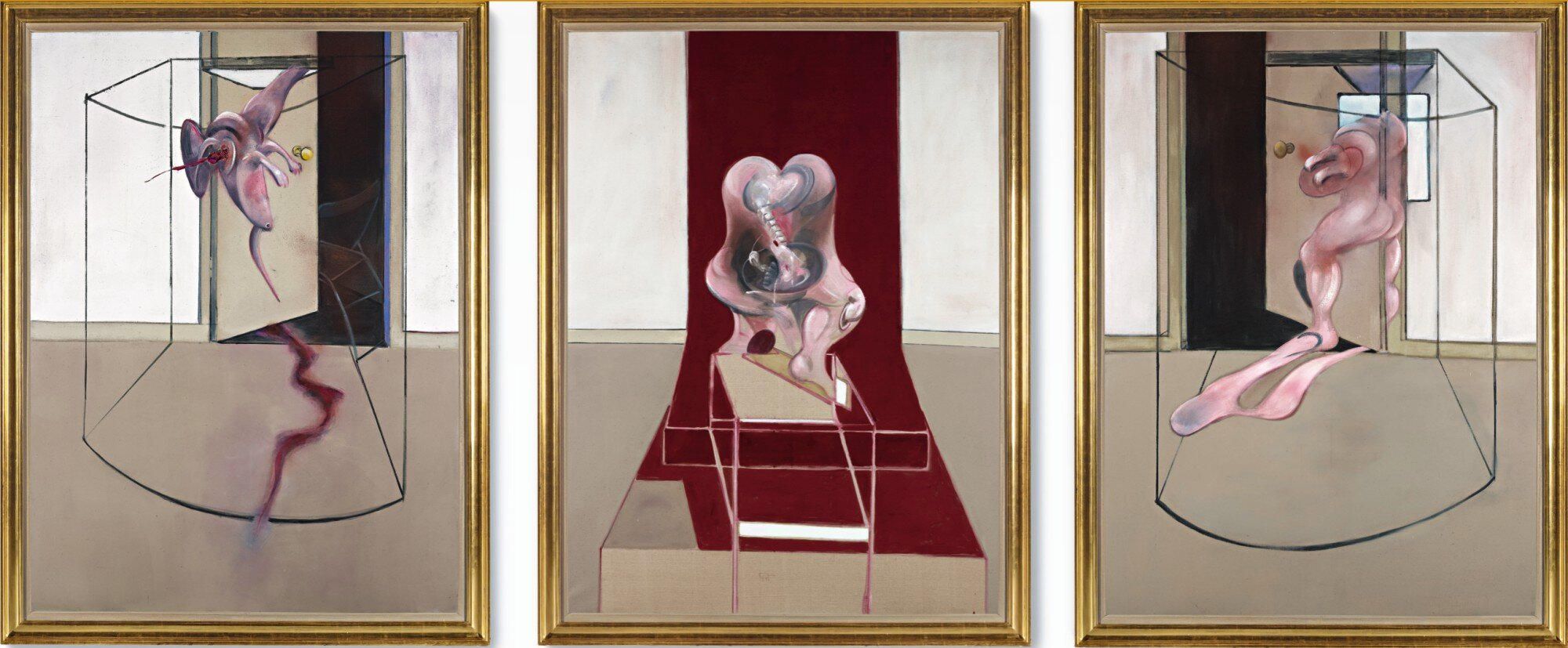 Francis Bacon Triptych inspired by the Oresteia of Aeschylus (photo courtesy Sotheby's)